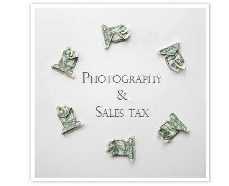 Should wedding photographers charge sales tax