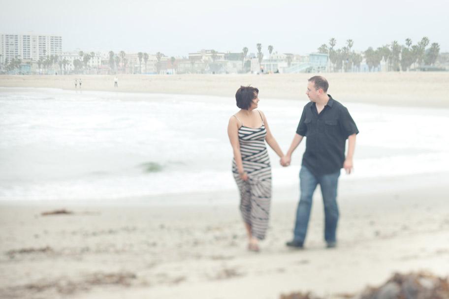 venice beach engagement session