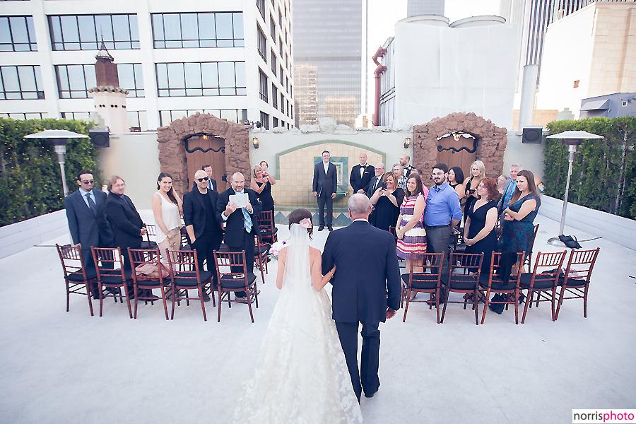 oviatt penthouse wedding ceremony