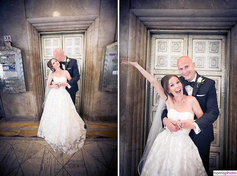 oviatt penthouse wedding elevator doors